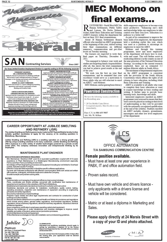 www salocalnewspapers co za - /newspapers/Herald/previousnewspapers