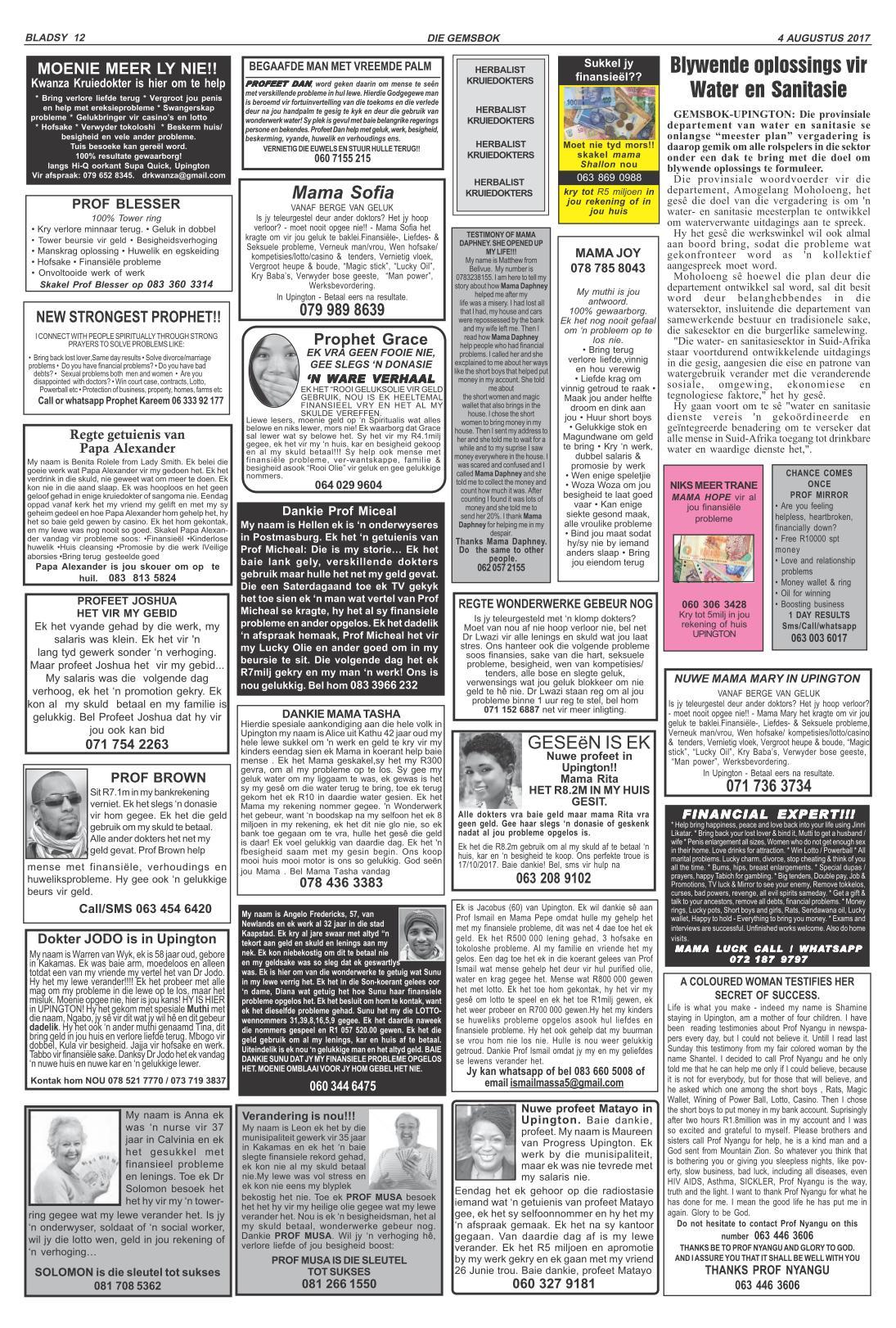 www salocalnewspapers co za - /newspapers/gemsbok/previousnewspapers