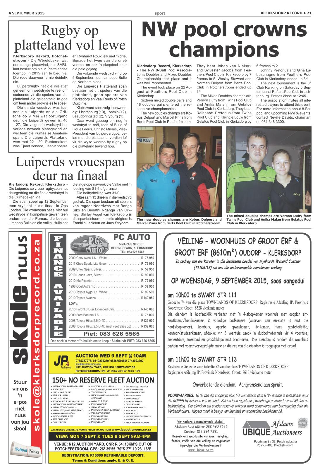 www salocalnewspapers co za - /newspapers/klerksdorprecord