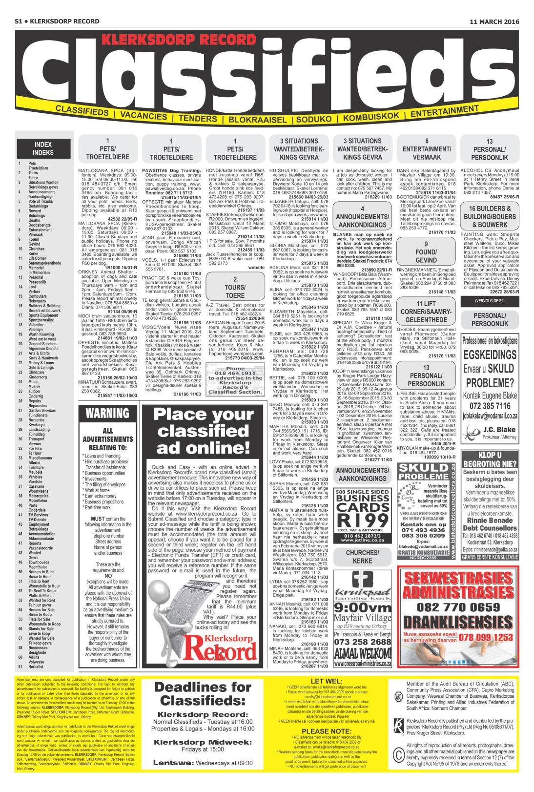 www.salocalnewspapers.co.za - /newspapers/klerksdorprecord ...