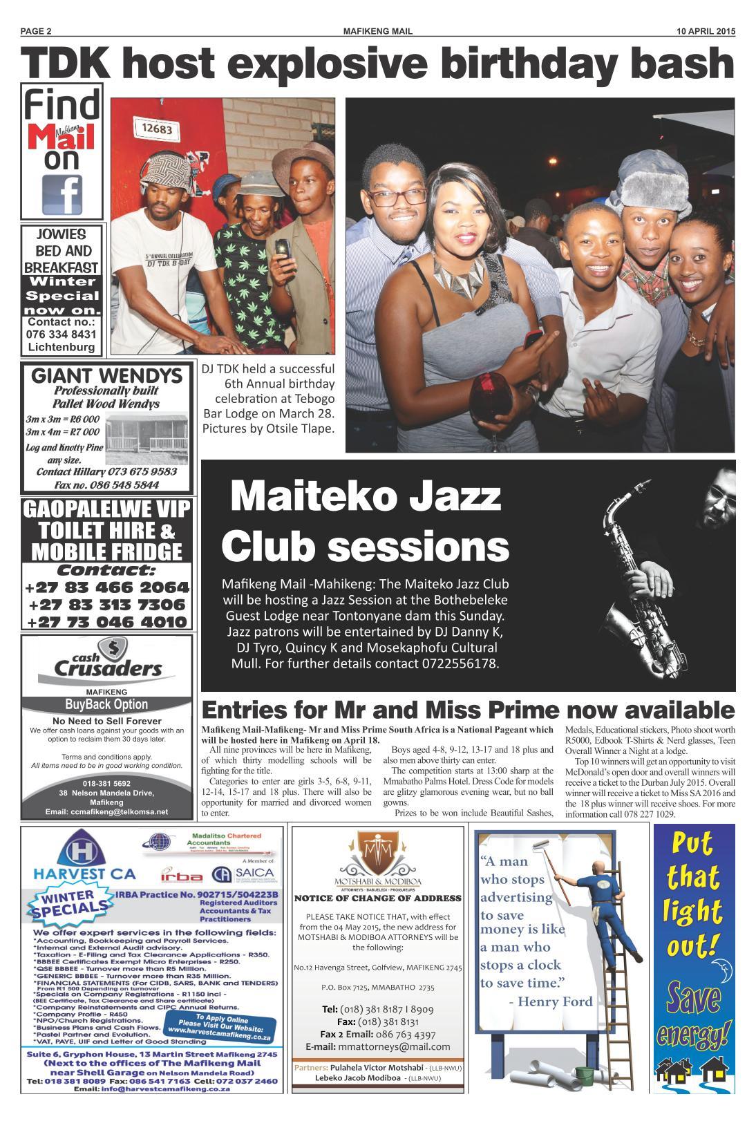 www salocalnewspapers co za - /newspapers/mafikengmail
