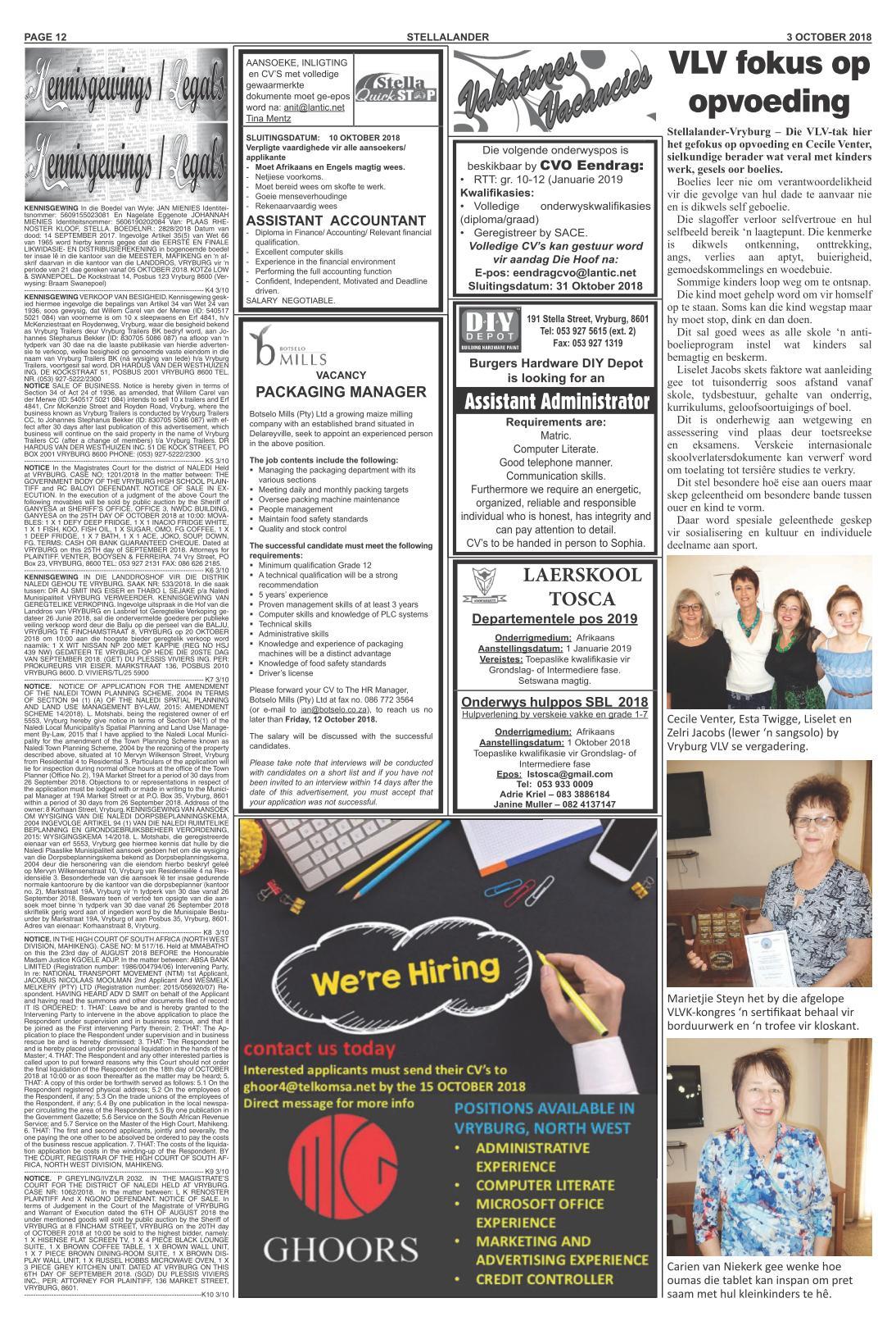www salocalnewspapers co za - /newspapers/stellalander